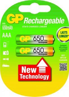 GP 650mAh AAA NiMh Sarjl� Pil 2`li