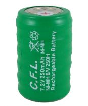CFL 7.2V 250mAh Ni-Mh 6/V 250H 6`l� Bidon G�rtlak Pili